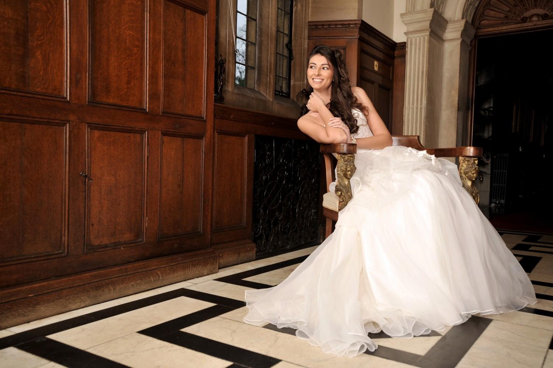Bride at Rushton Hall